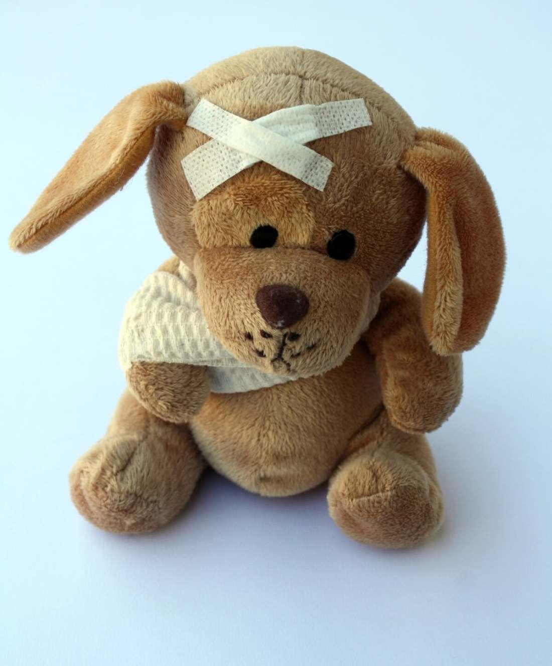 teddy-braço quebrado